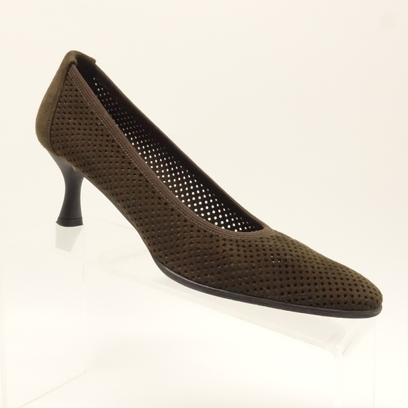 9bd9522f23c3a Stuart Weitzman Shoes | Stuart Weiztman Pumps Brown Suede Mesh 2 ...